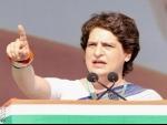 Priyanka Gandhi Vadra hits out at Yogi Adityanath govt over rising crime rate