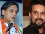 'In worst possible taste': Shashi Tharoor slams Anurag Thakur's remark on Nehru-Gandhi