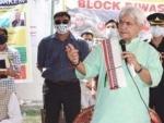 B2V3: Jammu and KashmirLieutenant Governor Manoj Sinhavisits Khonmoh, takes part in 'Awami Muhim'