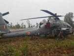 Indian Air force helicopter makes emergency landing at village Budhawar