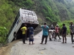 Manipur: Many returnees from Punjab injured after bus met with an accident