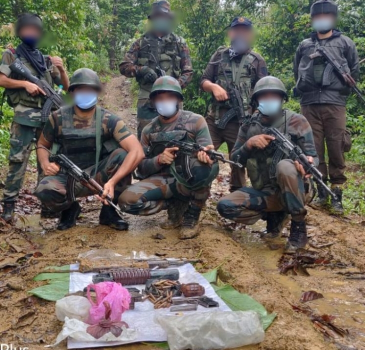 Army recovers huge cache of arms, ammunition, explosives in Arunachal Pradesh's Changlang