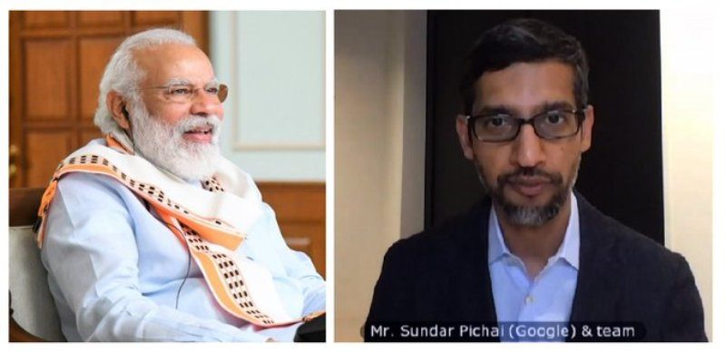 PM Modi interacts with Google CEO Sundar Pichai, discusses COVID-19 pandemic