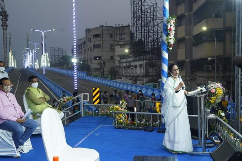 Mamata Banerjee inaugurates Mahjerhat Bridge in Kolkata, accuses Railways over delay