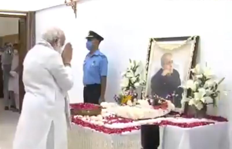 Pranab Mukherjee's funeral today, President Kovind, PM Modi pay last respect