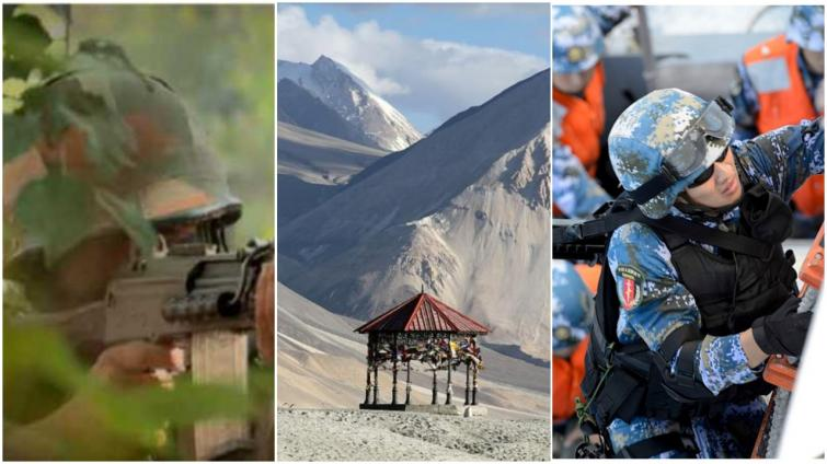 Villagers helping Indian Army in their fight against China by providing supply