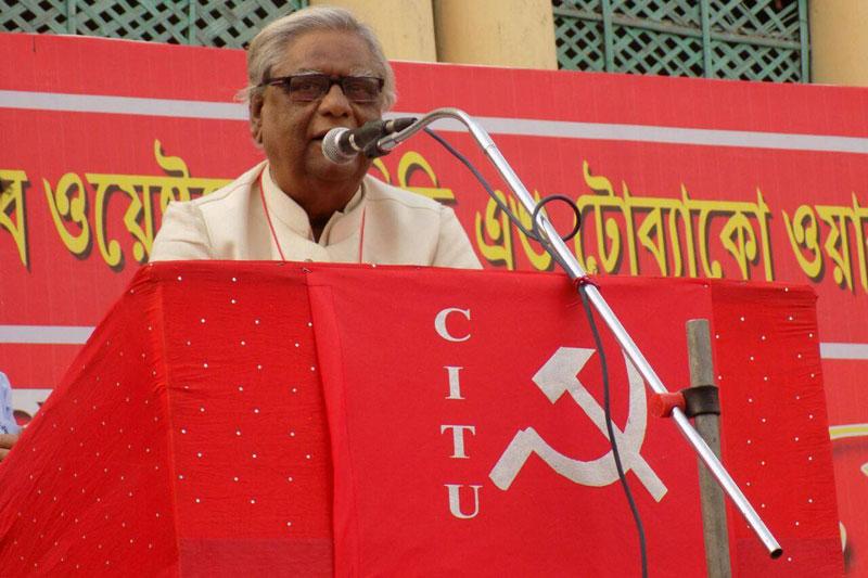 Kolkata: Veteran CITU leader Shyamal Chakraborty passes away battling COVID-19