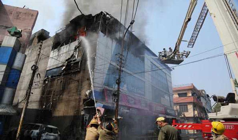 Jammu shopping mall fire under control, no human injury