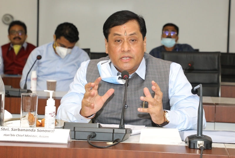 Development works must not be stalled with the excuse of COVID-19 fight: Assam CM Sonowal