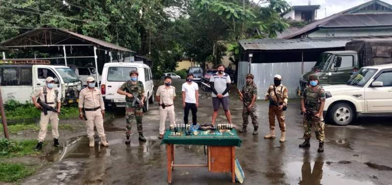 Two ZUF militants held with large number of ammunition in Manipur's Bishnupur district