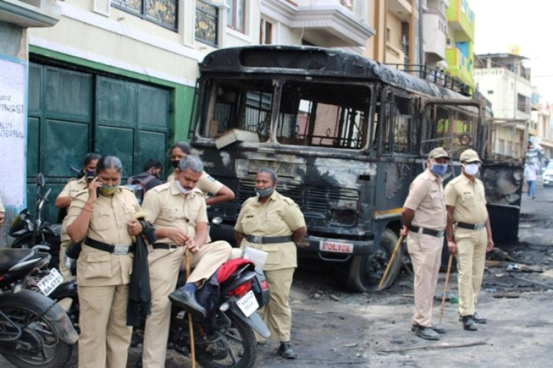 NIA raids 30 locations across Bengaluru in connection with last month's riots