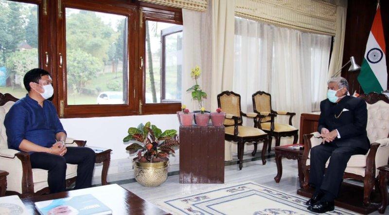 Pema Khandu calls on the Arunachal Pradesh Governor