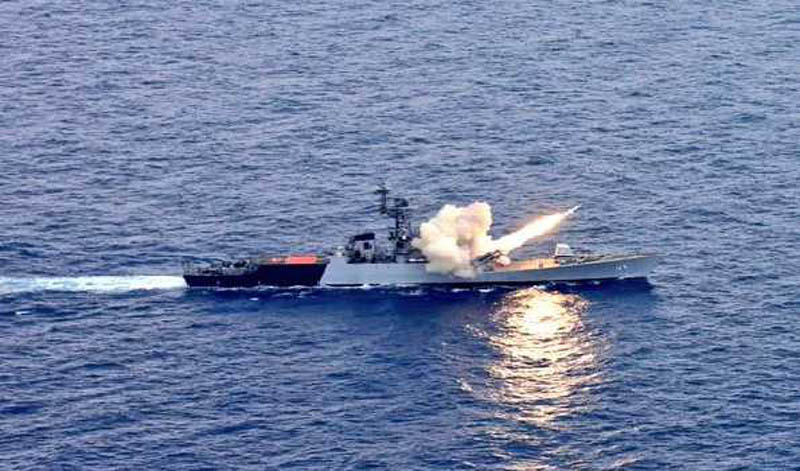 Indian Navy's INS Kora fires anti-ship missile, hits target in Bay of Bengal