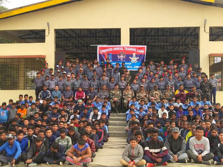 Combine annual training camp of NCC held in Assam's Jorhat