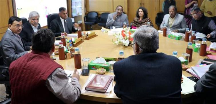 Election Commission holds discussions with Legislative Department on pending electoral reforms