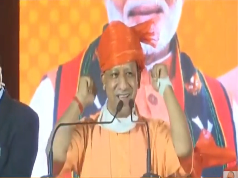 GHMC polls: UP CM receives rousing welcome in Hyderabad