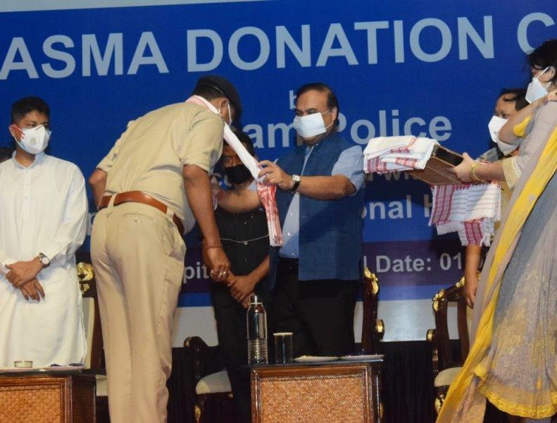 Assam: 67 COVID-19 cured police personnel donate plasma