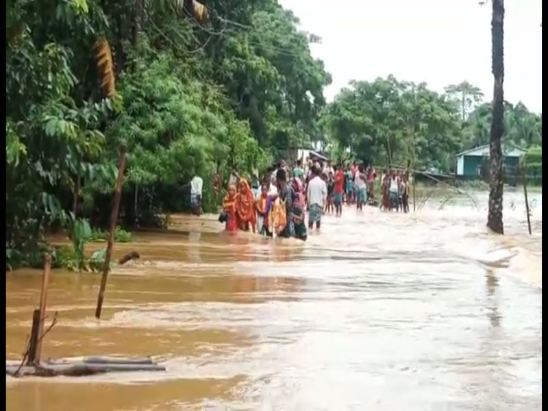 Assam : 2.25 lakh people affected in fresh wave of floods