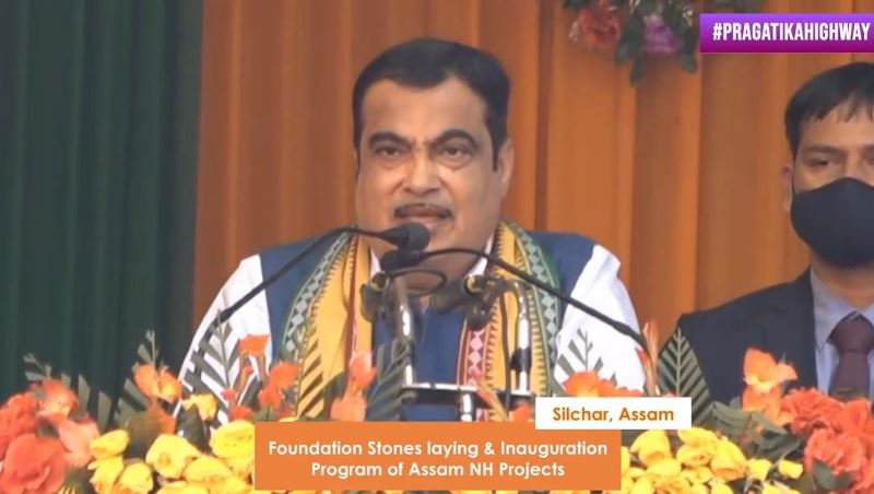 Nitin Gadkari lays foundation stone of 27 projects worth Rs. 2366 crore in Assam