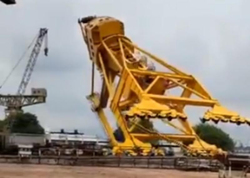Crane crashes in Visakhapatnam shipyard, 8 killed