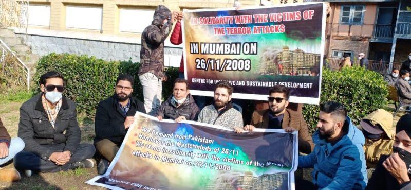 Kashmiri leader Mir Junaid organises sit-in protest against Pakistan in memory of Mumbai terror attack