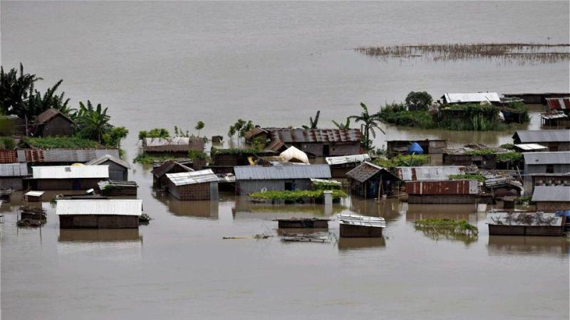 Assam flood hits 33 lakh people from 28 districts, death toll rises to 59