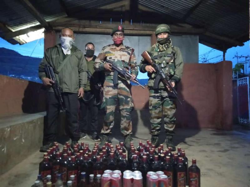 Security forces seize huge quantity of liquor in Nagaland