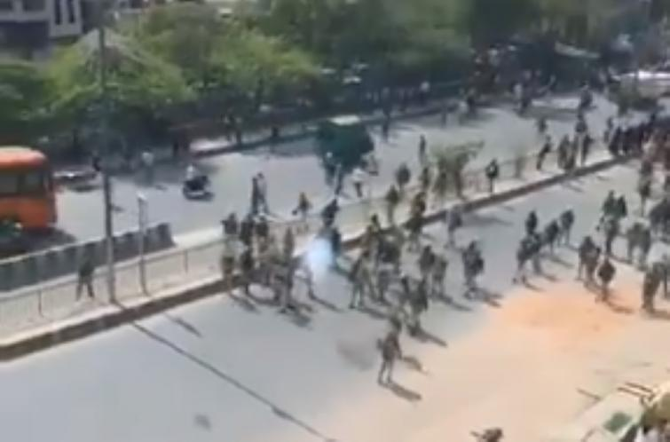 Delhi violence: New video shows police were attacked, pelted with stones