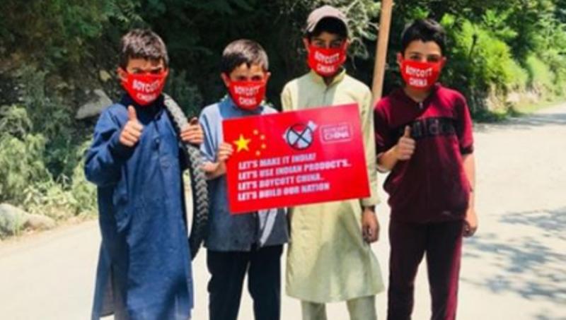 Make In India push: Kashmir people join 'Boycott China' drive