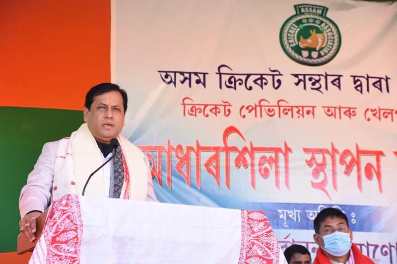 Sarbananda Sonowal lays foundation stone of cricket stadium in Assam's Majuli district