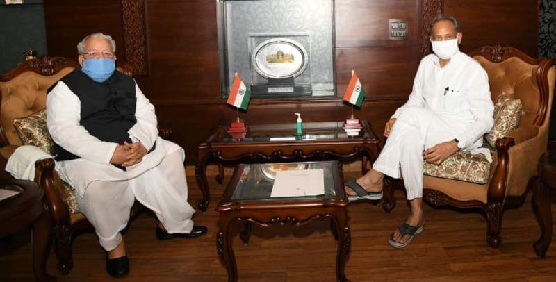 Governor Kalraj Mishra and Ashok Gehlot