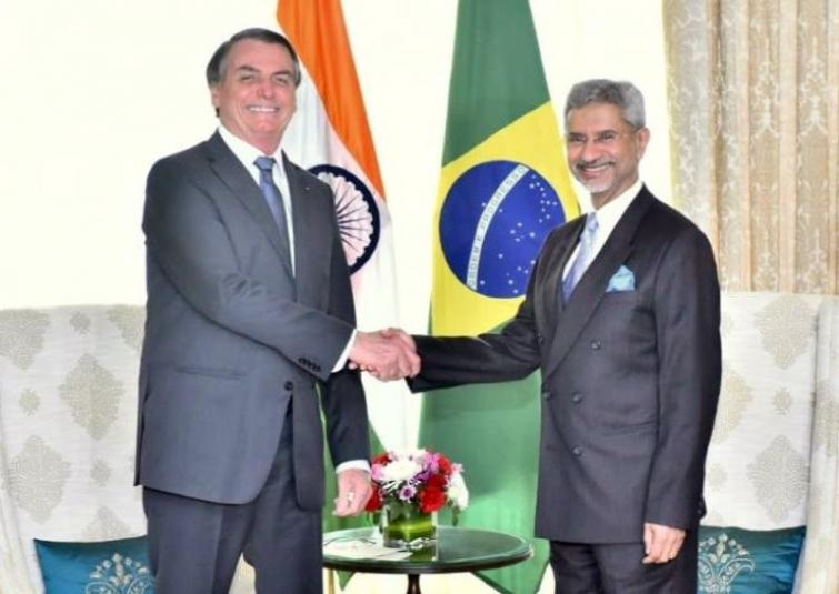 Brazil Prez Bolsonaro given ceremonial welcome, External Affairs Minister Jaishankar calls on visiting dignitary