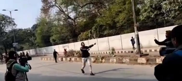 Man with gun fires at anti-CAA protests outside Jamia Millia University, one student injured
