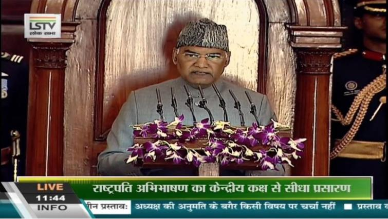 Violence in the name of protests weakens the country: President Kovind