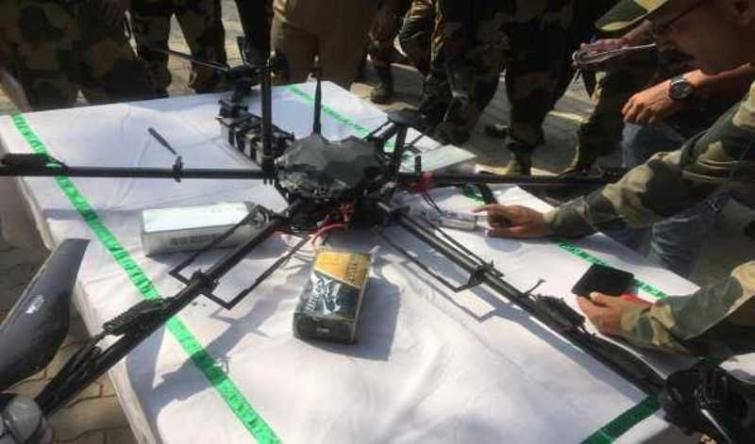 BSF shoots Pakistan drone laden with arms along IB in Jammu