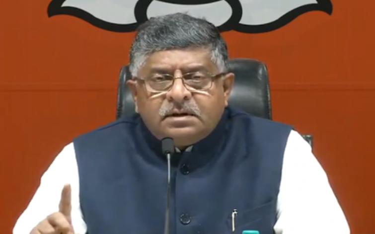 Union Minister Ravi Shankar Prasad slams Rahul Gandhi after he accuses PM Modi of going 'absolutely silent' on China issue