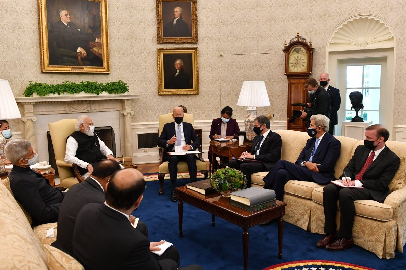 Trade will be an important factor in India-US ties: PM Modi tells Joe Biden at White House meeting