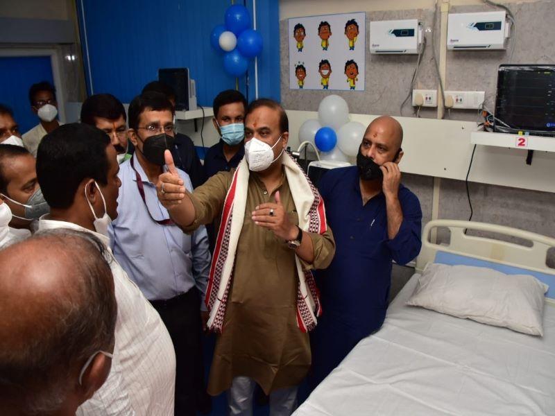 Himanta Biswa Sarma dedicates 80 ICU beds at Silchar Medical College and Hospital