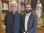J&K leader Mir Junaid meets Lt Governor Sinha over raging issues