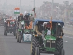 Protesting farmers take out tractor march against farm laws