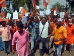BJP workers protest outside party's election office in Kolkata over Bengal poll tickets
