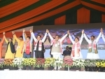 BJP led alliance crosses magic figure of 64 in Assam in initial counting