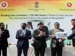 India officially hands over 20 lakh COVID-19 vaccine to Bangladesh as a gift