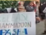 PoK activists demonstrate in London against Shah Mehmood Qureshi arrival