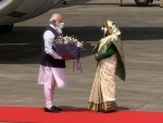 PM Modi reaches Bangladesh for 2-day visit, welcomed by Sheikh Hasina