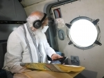 PM Modi conducts aerial survey of cyclone affected areas of Gujarat