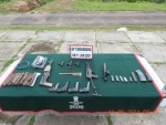 Assam Rifles recovered huge cache of arms, ammunition in Manipur