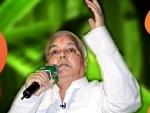 Former Bihar CM Lalu Yadav admitted to Delhi's AIIMS