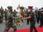 Swarnim Vijay Mashaal marking 50 years of India's victory over Pakistan received along Assam-WB border