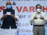 Rajnath Singh unveils first batch of anti-COVID drug developed by DRDO and hands over to Health Minister Dr Harsh Vardhan